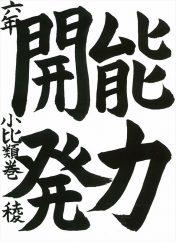 日本教育書道会大賞作品
